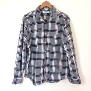 Express men's gray checkered shirt XL button up